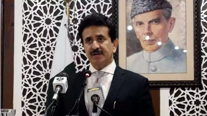 FO spokesman Zahid Hafeez Chaudhri at the weekly media briefing. — Photo courtesy RadioPak/File