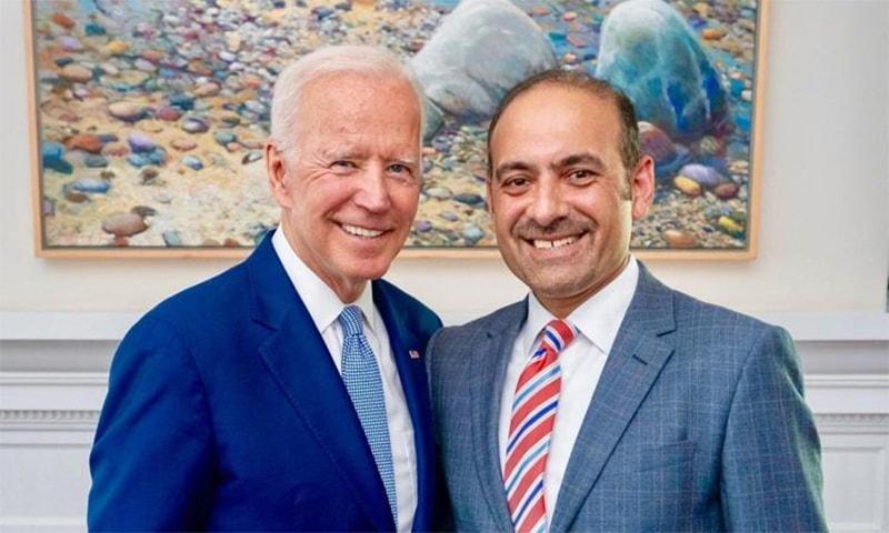 US President Joe Biden and Lumiata CEO Dilawar Syed. — Photo courtesy India-West
