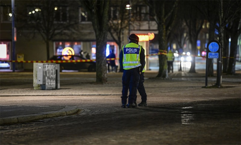 The man was arrested after the attack on Wednesday afternoon in the quiet town of Vetlanda in the south of Sweden. — AP via Arab News