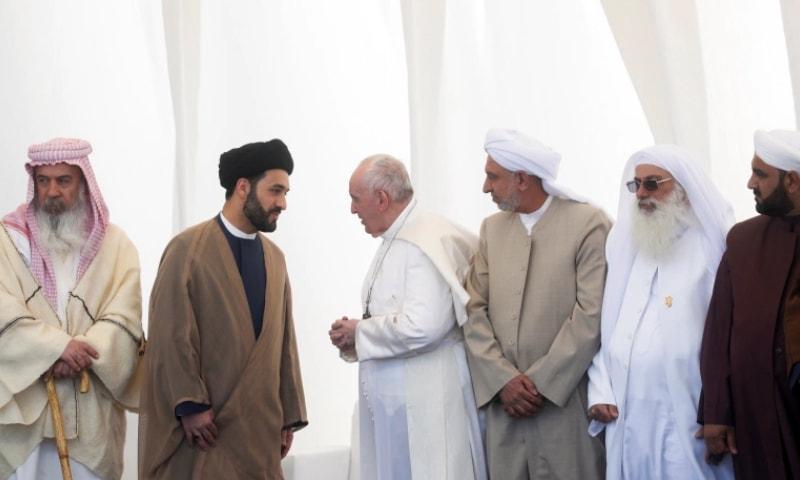 پوپ فرانسس کا عراقی مسلمانوں، مسیحیوں پر امن کیلئے متحد ہونے پر زور