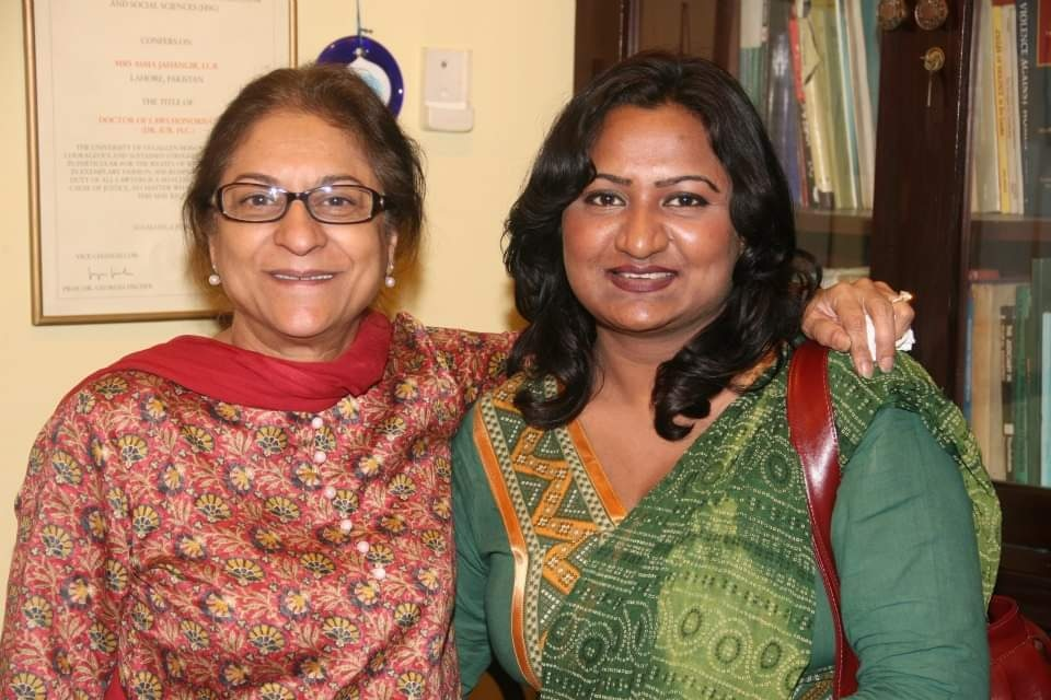 Gonila Hasnain with Asma Jahangir.