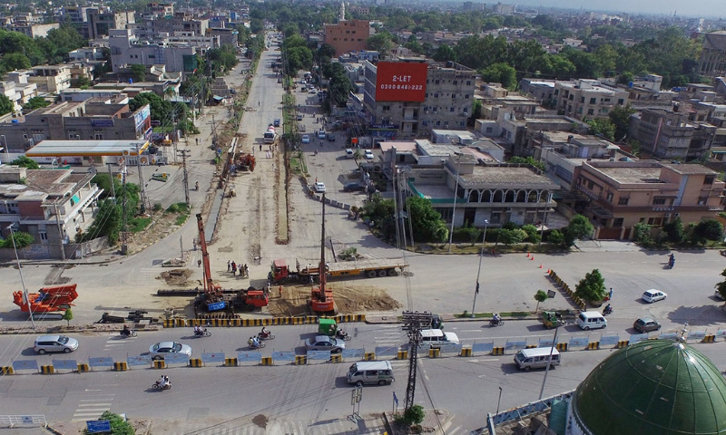 The construction work on five mega development projects worth over Rs20.5 billion is likely to begin in the provincial capital by the end of next month. — Photo by Syed Muhammad Abubakar/File