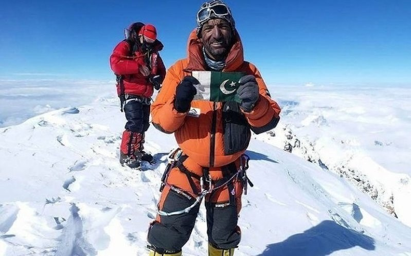 In this file photo, Muhammad Ali Sadpara is seen at the K2 summit in 2018. — File