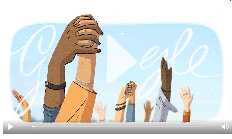 عالمی یوم خواتین پر گوگل کا ڈوڈل