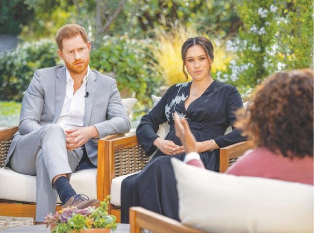 OPRAH Winfrey interviews Prince Harry and Meghan.—Reuters