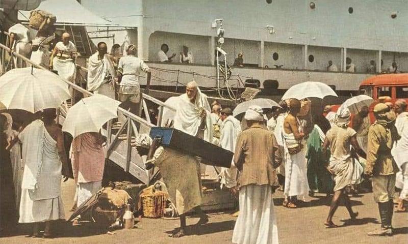 حاجی اپنی ضرورت کا تمام سامان کراچی سے ہی لے کر جاتے تھے