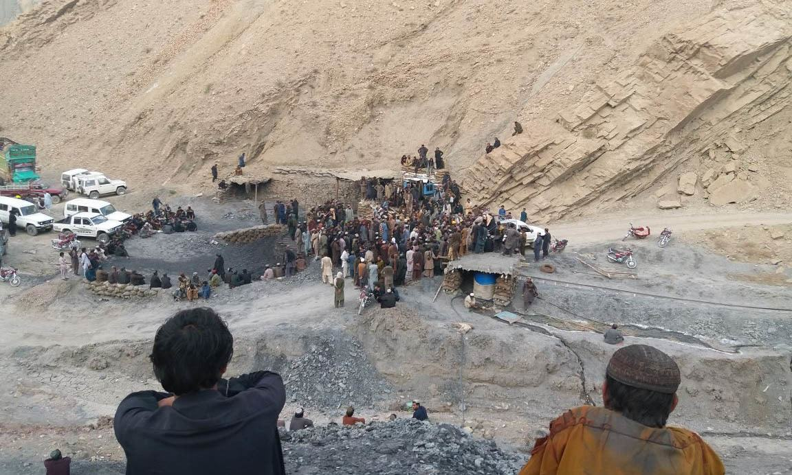 A coalminer died and five others were missing after a mine collapsed in Marwar on Thursday. — DawnNewsTV/File