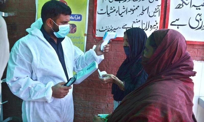 Despite confirmation of the third wave, Punjab government seems reluctant to increase the number of the Covid-19 tests. — Dawn archives