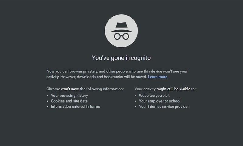 گوگل کا انکوگنیٹو موڈ اتنا بھی محفوظ نہیں جتنا آپ سمجھتے ہیں