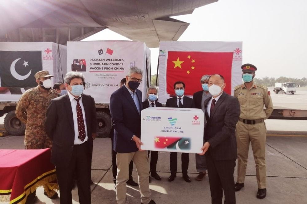 China on Wednesday gifted another 500,000 doses of Covid-19 vaccine to Pakistan. — Photo provided by Naveed Siddiqui
