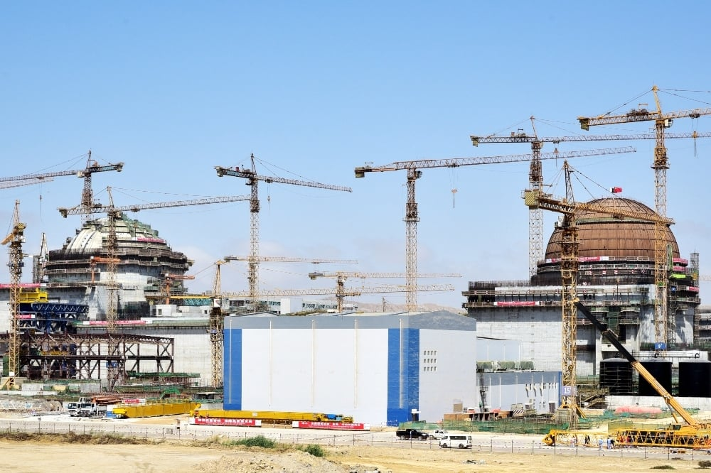 This photo shows construction work taking place on the K-2 and K-3 nuclear power plants. — Photo courtesy PAEC website
