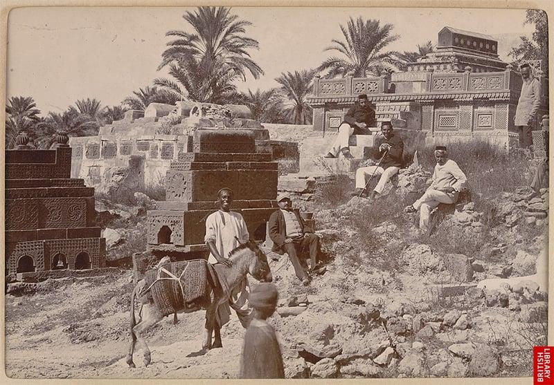 سن 1900ء کا منگھوپیر— تصویر: برٹش لائبریری