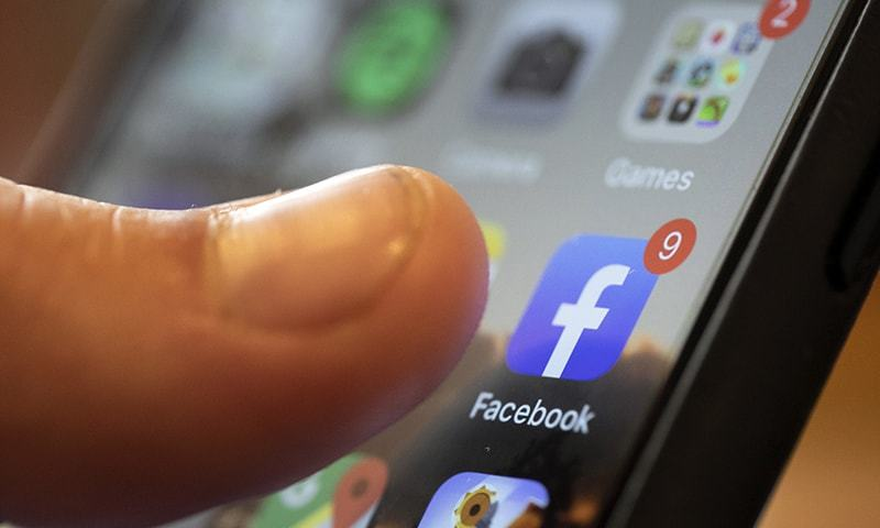 In this file photo, an iPhone displays the Facebook app in New Orleans.  — AP/File