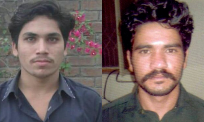 Abid Malhi (r) and Shafqat Ali have also been handed life imprisonment in addition to fines of Rs50,000 each. – File Photos/Punjab Police