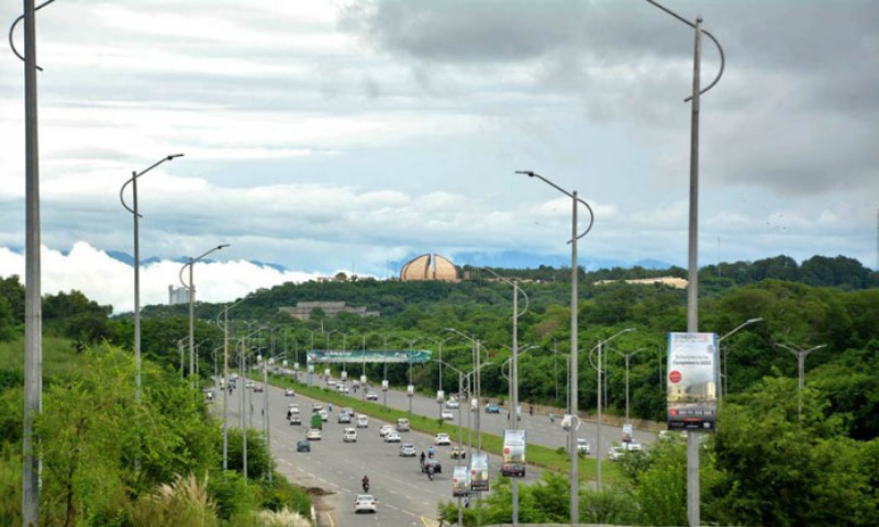 This file photo shows a view of Islamabad after rain. — APP