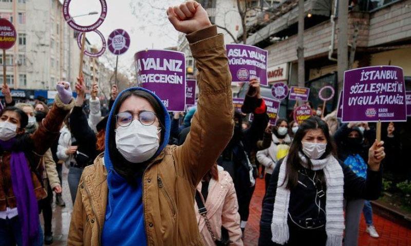 ترکی نے خواتین کے خلاف تشدد سے متعلق یورپی معاہدہ ترک کردیا
