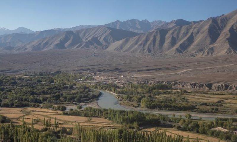River Indus flows through Leh, in the Ladakh region. — Reuters/File