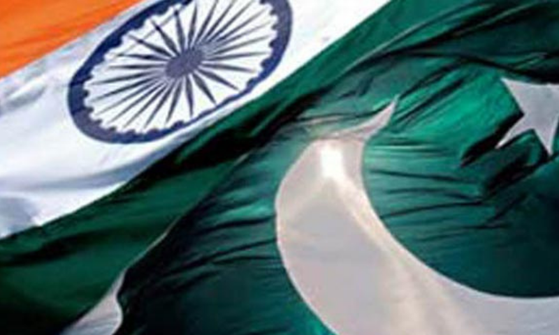 Pakistani and Indian flags. — File Photo