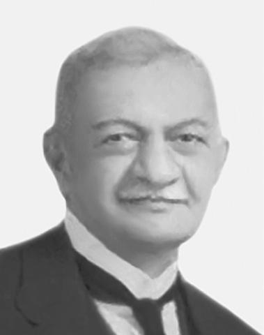 A portrait of Mr Nadirshaw Edulji Dinshaw