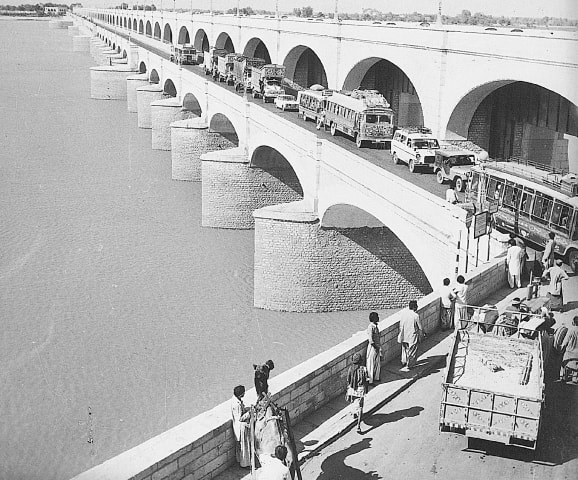An archival photo of Sukkur Barrage; some of the earliest students of NED worked on the project   White Star