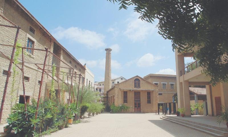 The Bai Puribai Becharbhai and Becharbhai Raichand Blocks at NED's City Campus   Courtesy the writer