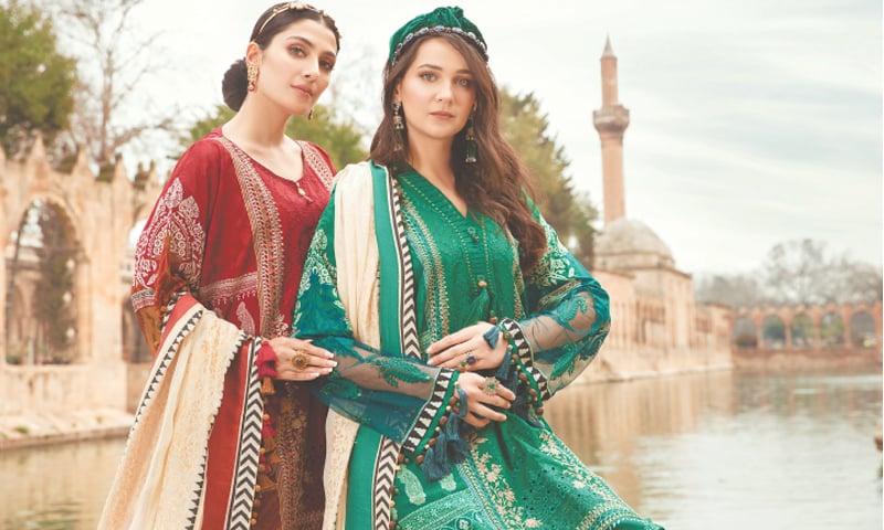 Ayeza Khan and Turkish actress Gulsim Ali for Maria B. lawn