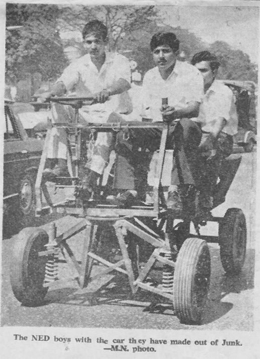 'The NED boys with the car they have made out of junk'   From 'The NED Experience' (2019)