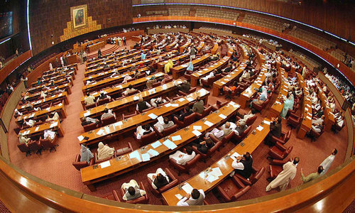 The spring session of the National Assembly is set to begin on Monday (today) amid a surge in Covid-19 cases. — AFP/File