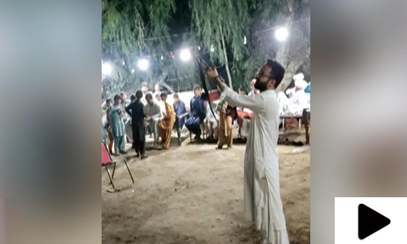شکارپور میں شادی کی تقریب میں ہوائی فائرنگ کی ویڈیو وائرل