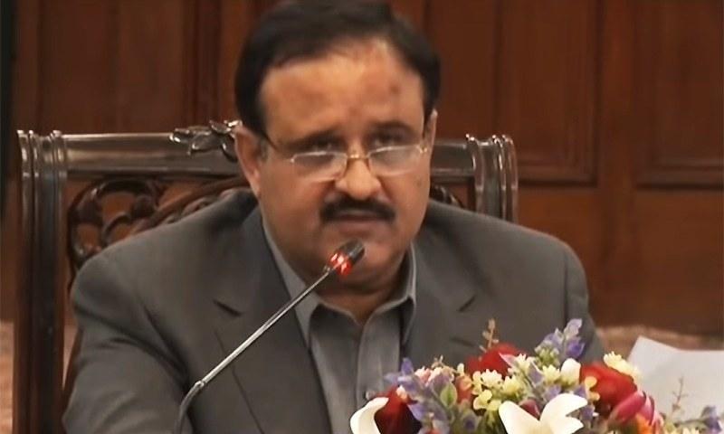 Punjab Chief Minister Usman Buzdar. — DawnNewsTv/File