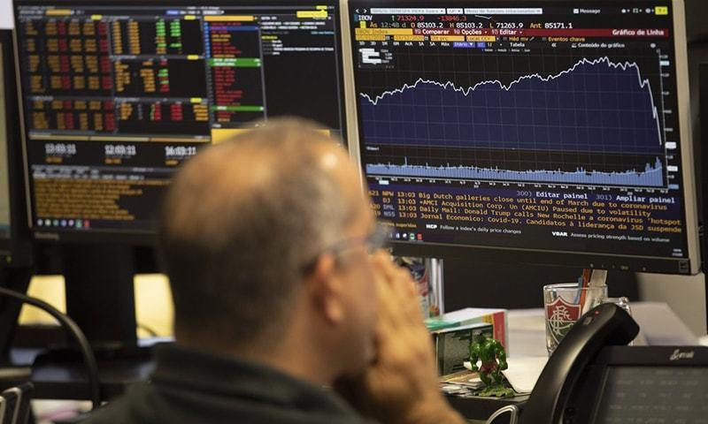 اسٹاک مارکیٹ میں شدید مندی، 100 انڈیکس میں ایک ہزار پوائٹس سے زائد کی کمی