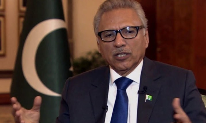 President Dr Arif Alvi has so far received only the first dose of the vaccine. — DawnNewsTV