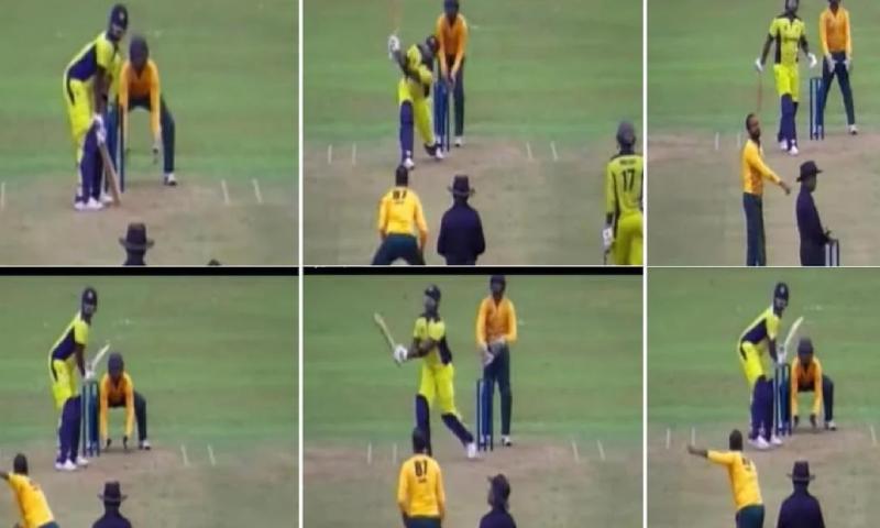 سری لنکا کے تھیسارا پریرا کی جارحانہ بلے بازی، ایک اوور میں 6 چھکے