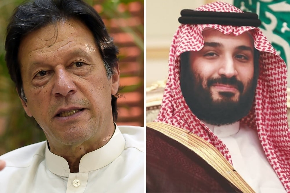 Prime Minister Imran Khan (left) on Monday received a telephone call from Saudi Crown Prince Mohammed bin Salman. — Photos AP/Bloomberg