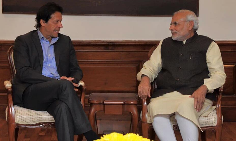 This file photo shows (now) Prime Minister Imran Khan in a meeting with Indian Prime Minister Narendra Modi in 2015. — Indian Ministry of External Affairs/Twitter