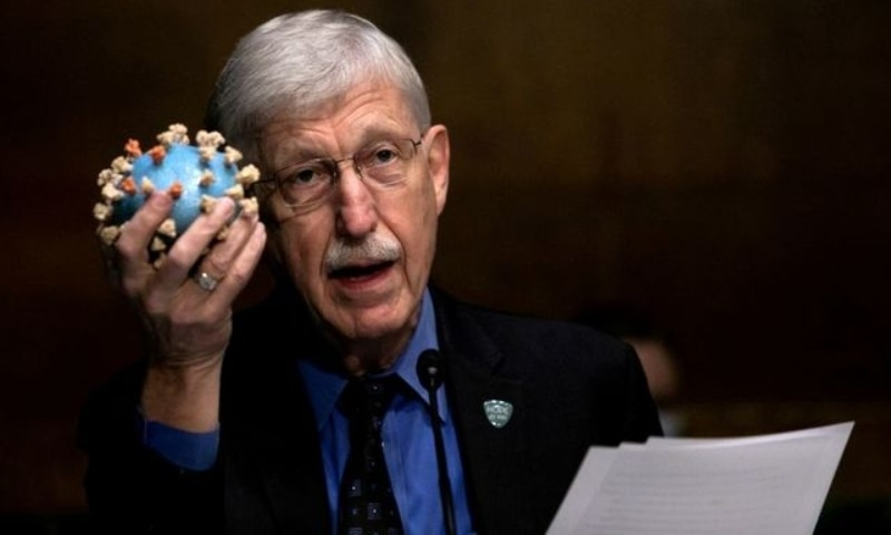 National Institutes of Health Director Francis S Collins holds a model of SARS-CoV-2, the novel coronavirus, as he testifies on Capitol Hill in Washington, DC, US, July 2, 2020. — Reuters/File
