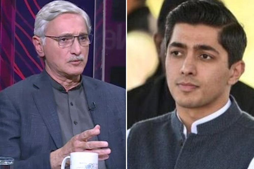 This combo photo shows estranged PTI leader Jahangir Tareen (left) and his son, Ali Tareen. — Photos: DawnNewsTV/File