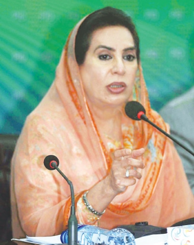 ISLAMABAD: Federal Minister of Inter-provincial Coordination Fehmida Mirza addresses a media conference at the Press Information Department on Wednesday.—APP