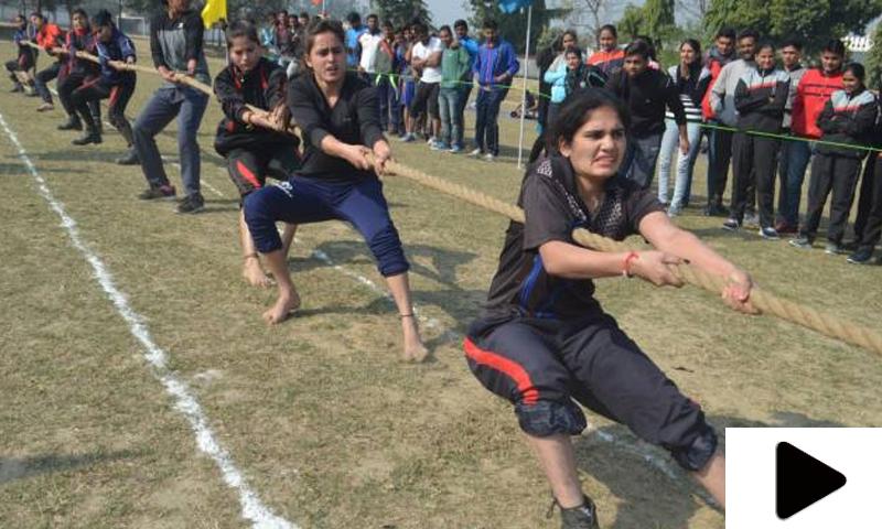 سر سید یونیورسٹی میں رسہ کشی کے مقابلوں کا انعقاد