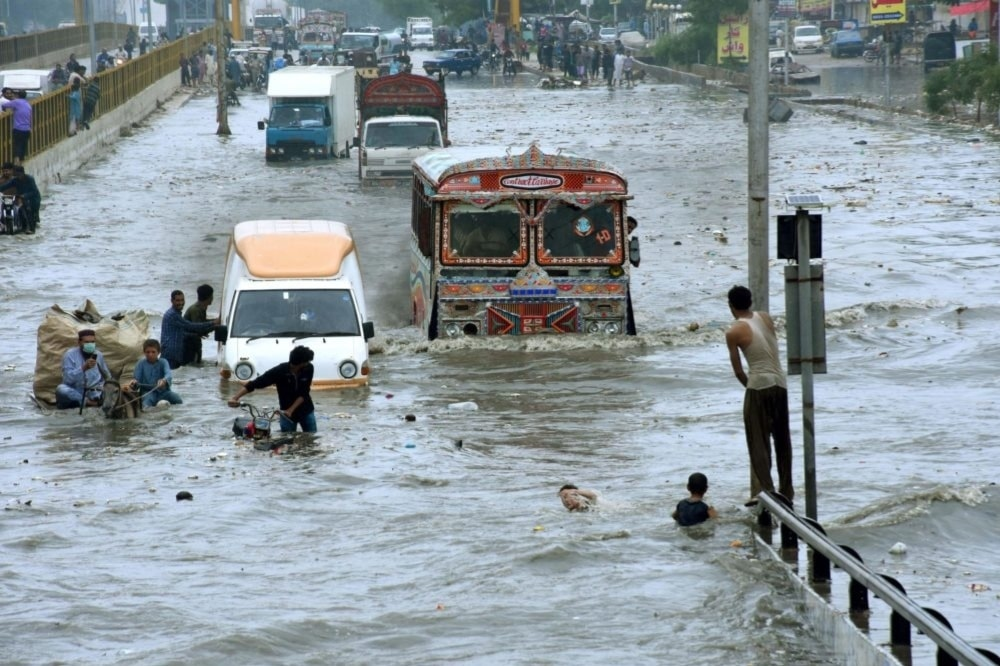 Pakistan is one of the world's 10 most vulnerable countries to climate change. — Photo courtesy: Str/Xinhua/Alamy Live News