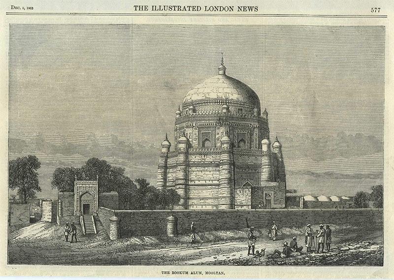 ملتان میں شاہ رکن عالم کا مزار (1863ء)