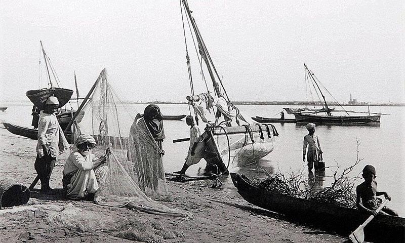 1843ء میں لی گئی دریائے سندھ کی تصویر