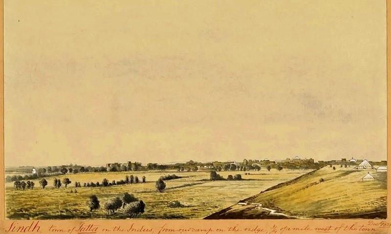 1857ء میں ٹھٹہ کا ایک منظر