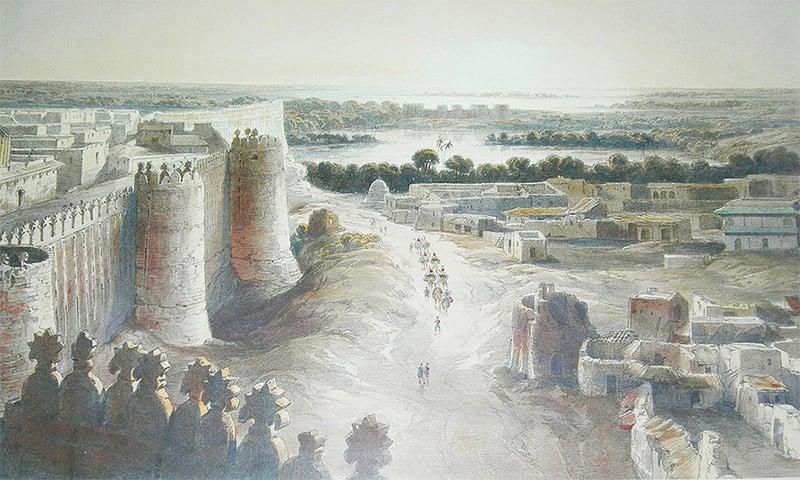 1884ء کے قلعہ حیدرآباد کی تصویر