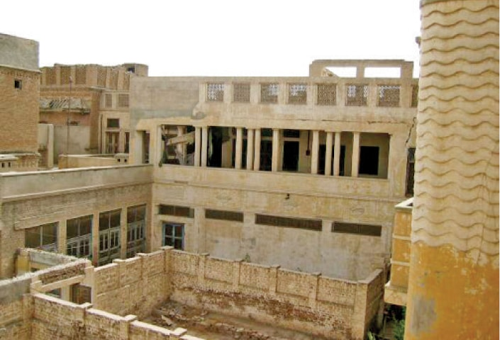 The 125-year-old Bagai Mahal facing demolition. — Dawn