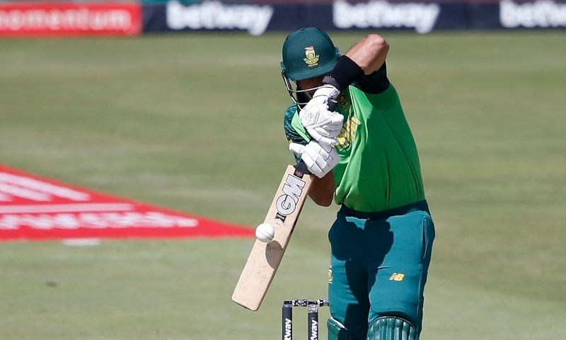 South Africa's Aiden Markram plays a shot during the first one-day international cricket match between South Africa and Pakistan at SuperSport Park in Centurion, South Africa, April 2. — AFP