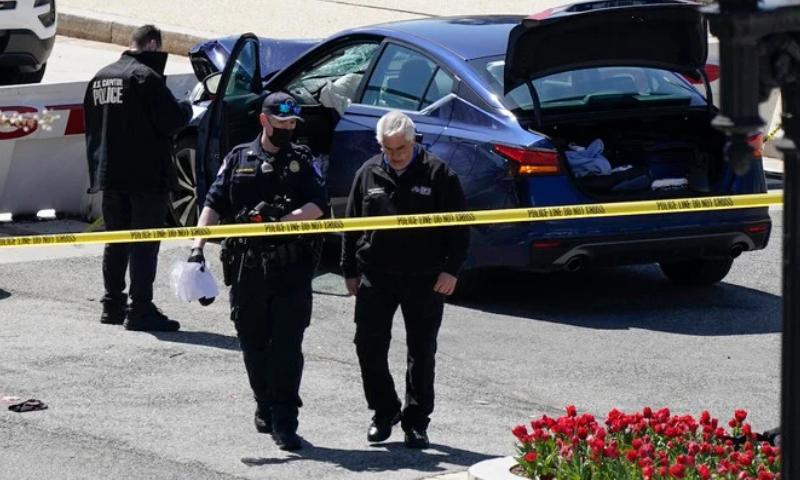 امریکا: کیپیٹل ہل کے باہر مبینہ کار حملہ، پولیس افسران سمیت 3 افراد زخمی