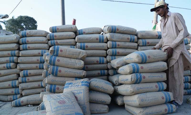 Cement sector posted the highest-ever monthly growth of 44.39 per cent in March to 5.773 million tonnes from 3.722m tonnes in the same period last year. — AFP/File