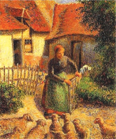 Shepherdess Bringing In The Sheep (1886)