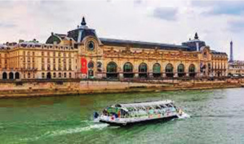 Musée d'Orsay by the River Seine